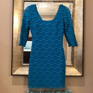 Guess blue mini dress